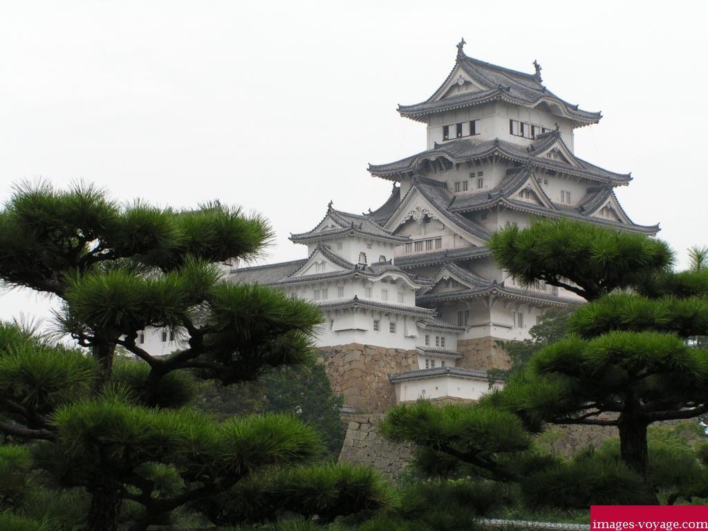 Presque une estampe !!! Château de Himeji-Jô